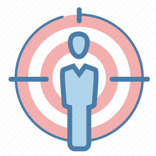 aim, audience targeting, focus, human resources, market target, targeting icon