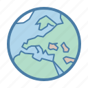 earth, global, globe, international, map, planet, world icon