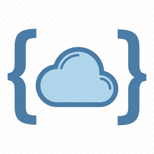 brackets, cloud, data storage, share icon