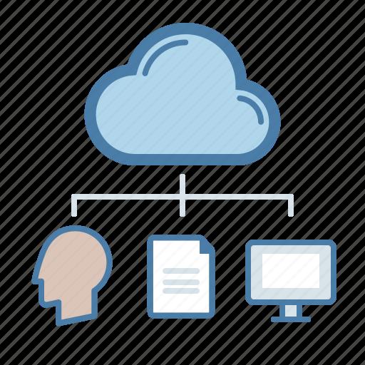 cloud computing, document, file sharing, storage icon