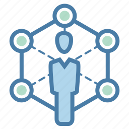 community network, connection, group, people, social, team, teamwork icon