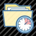 clock, folder, project