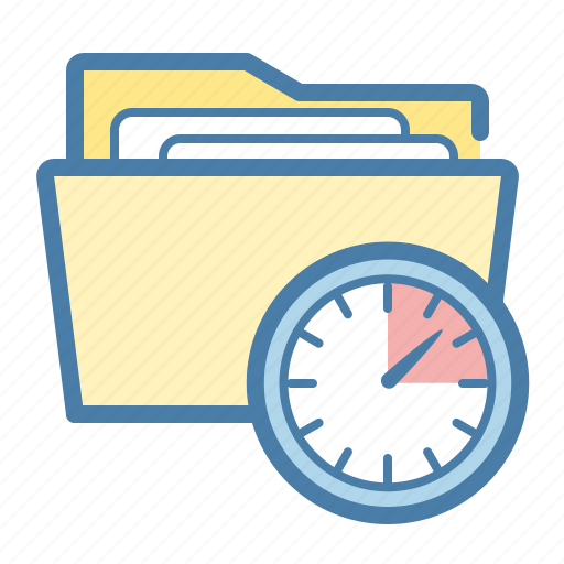clock, document, documents, file, folder, planning, project icon