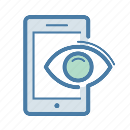 advertising, eye, impression, marketing campaign, mobile, seo, view icon
