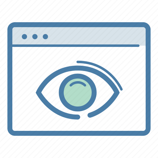 advertising, eye, impressions, web page icon