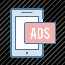 ads, advertising, mobile, monetization, online marketing, phone, promotion icon