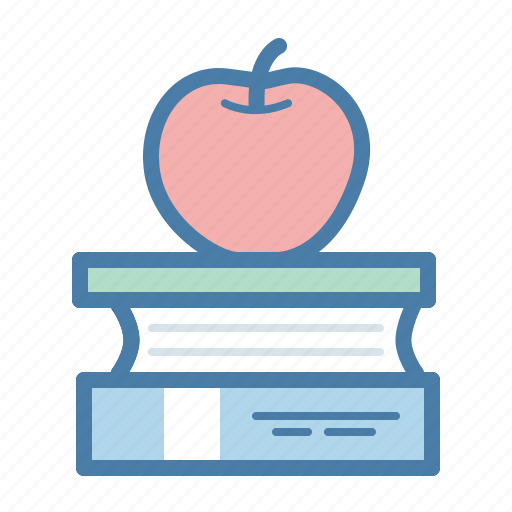apple, books, education, learn, manuals, read, study icon