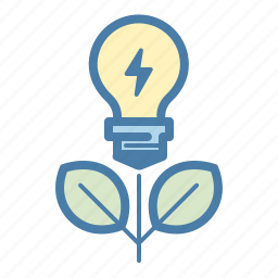 brainstorm, create, fresh, grow, idea, light bulb, plant icon