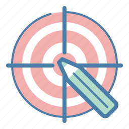 aim, audience, design, pencil, strategy, target, ui/ux icon