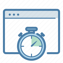 browser, clock, efficiency, fast, speed, stopwatch, time icon