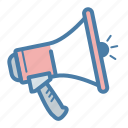 ads, announcement, megaphone, promotion icon