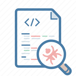 bug fixing, clean code, fix, magnifier, repair, search, testing icon
