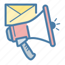 email marketing, megaphone, promotion, speaker icon