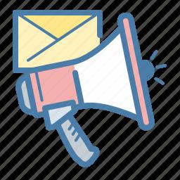 email, email marketing, loud, marketing, megaphone, promotion, speaker icon