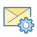 email, envelope, options, setting icon