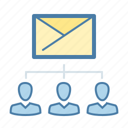 alias, contact list, email, mail, receivers, subscribers, subscription list icon