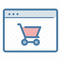 application, basket, browser, ecommerce, online shop, shopping cart, web store icon