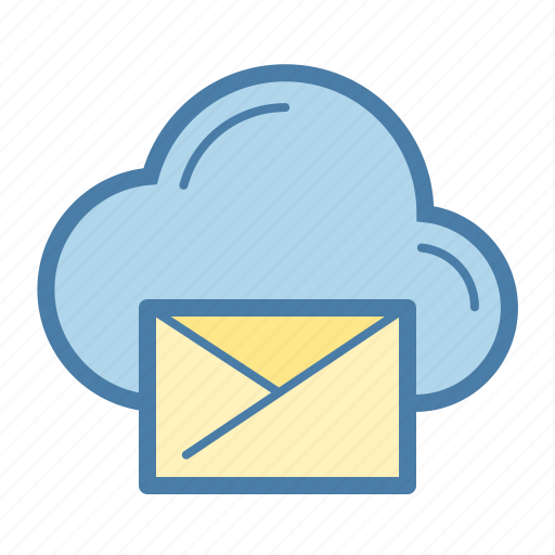cloud, clouding, email, envelope, mail, share, storage icon