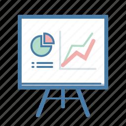 analytics, blackboard, presentation, report, sales, statistics icon
