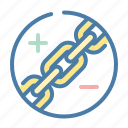 anchor, chain, hyperlink, link icon