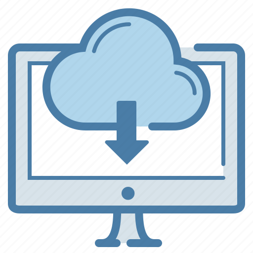 cloud, clouding, download, pc, screen, storage, sync icon