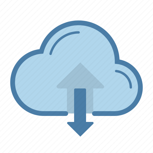 arrow, cloud, download, share, sharing, storage, upload icon