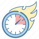 clock, deadline, efficiency, time management icon