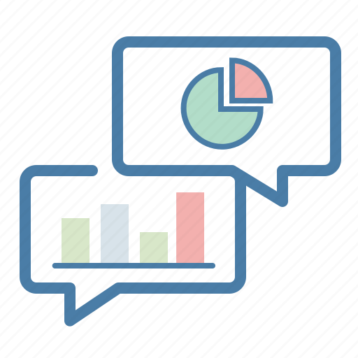 analysis, graph, message bubble, statistics icon