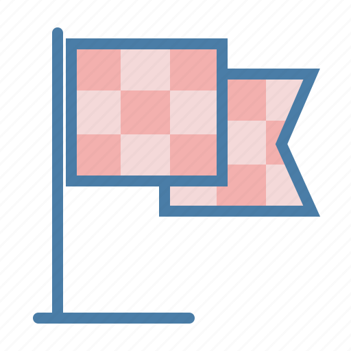 deadline, finish, flag, milestone, stop point icon