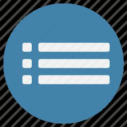 bar, list, marker, menu, navigation icon