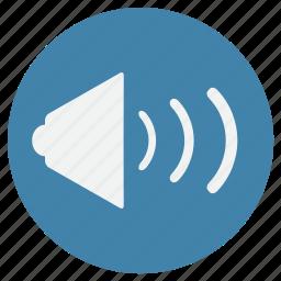 audio, loud, music, sound, speaker, tune icon