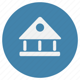 bank, building, finance, home, money, payment icon