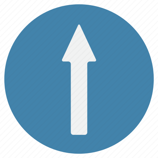 course, direction, go ahead, location, sign, up, way icon