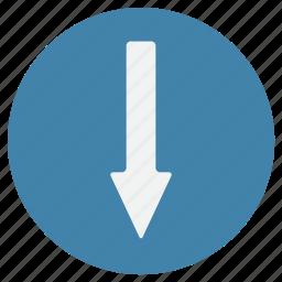 arrow, arrows, direction, down, move, sign, way icon