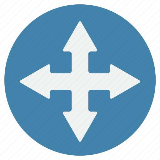 arrow, buttons, every direction, navigation, way icon