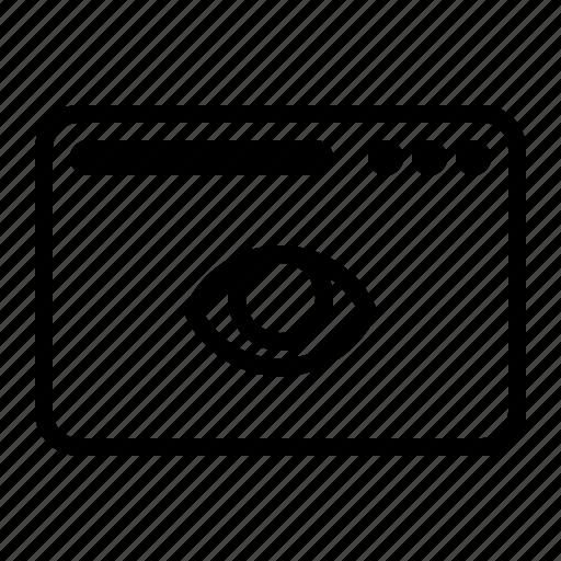 dekstop, eye, look, see, seo, website icon