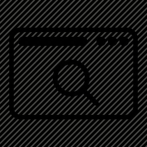 dekstop, magnify, search, seo, website icon