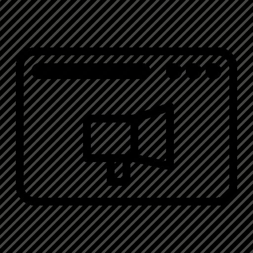 dekstop, promote, seo, speaker, website icon