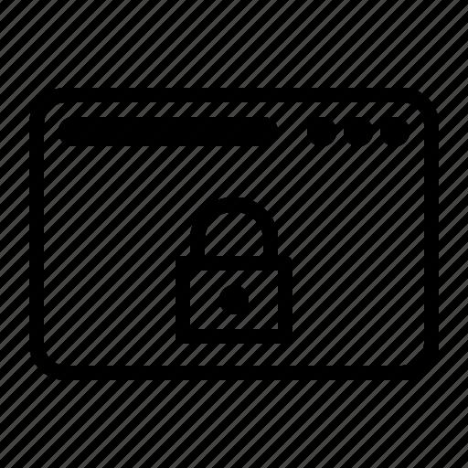 dekstop, lock, seo, website icon