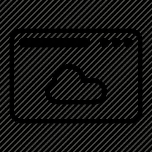 cloud, dekstop, seo, server, website icon
