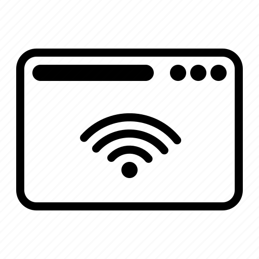 dekstop, seo, website, wifi icon