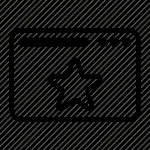 dekstop, rating, seo, star, website icon