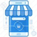 commerce, ecommerce, online shopping, online store icon
