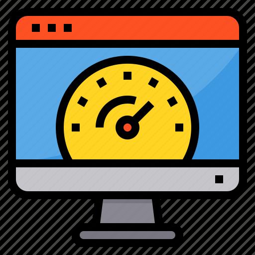 browser, computing, interface, internet, speed, test, ui icon