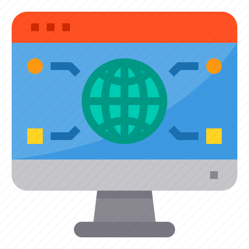 browser, computing, global, interface, internet, ui, world icon