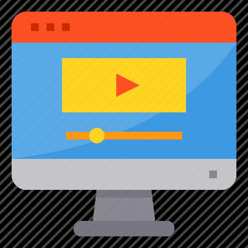 browser, computing, interface, internet, media, player, ui icon