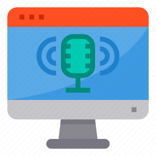 browser, computing, interface, internet, microphone, ui icon
