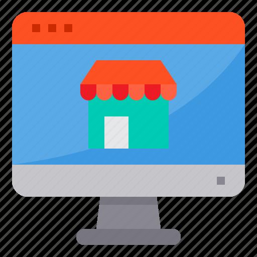 browser, computing, interface, internet, shop, ui icon