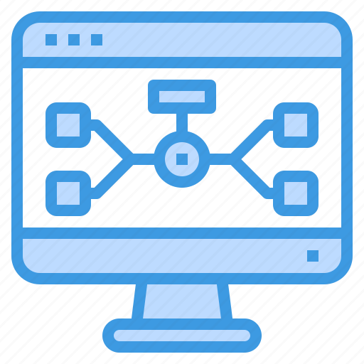 browser, chart, computing, flow, interface, internet, ui icon