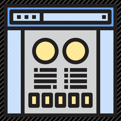 browser, design, display, programming, screen, social, website icon